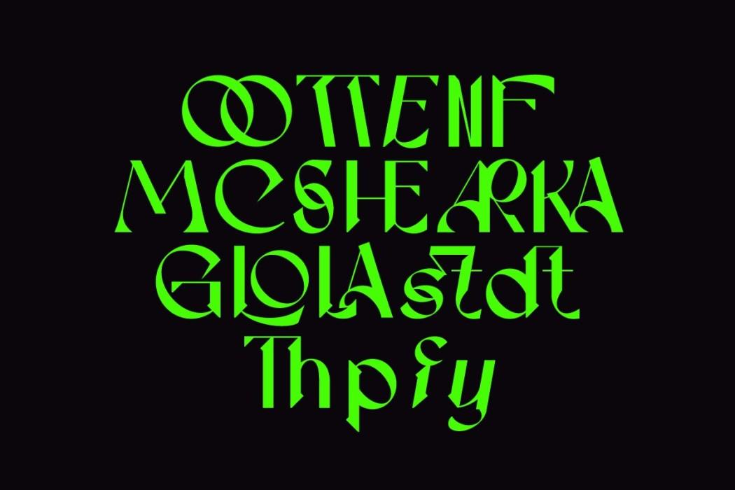 [淘宝购买] 现代潮流三角尖锐锋利标题徽标Logo设计衬线英文字体素材 Calliope Display Typeface插图10
