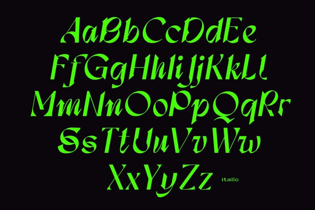 [淘宝购买] 现代潮流三角尖锐锋利标题徽标Logo设计衬线英文字体素材 Calliope Display Typeface插图12