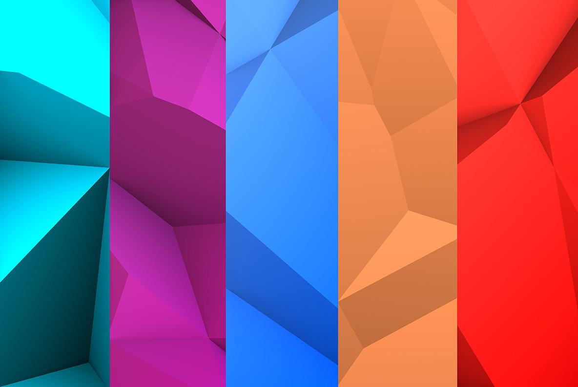 77款抽象几何多边形纹理背景图片设计素材 Abstract Backgrounds 10插图9