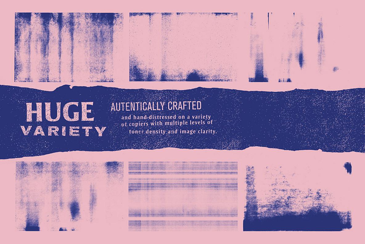 潮流复古做旧复印喷墨纹理背景图片PS设计素材 Nasty Copy Texture Pack插图1