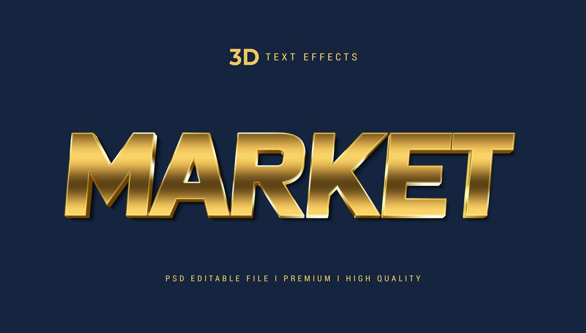 14款3D立体标题徽标设计PS样式模板素材 Text Effect Template插图9