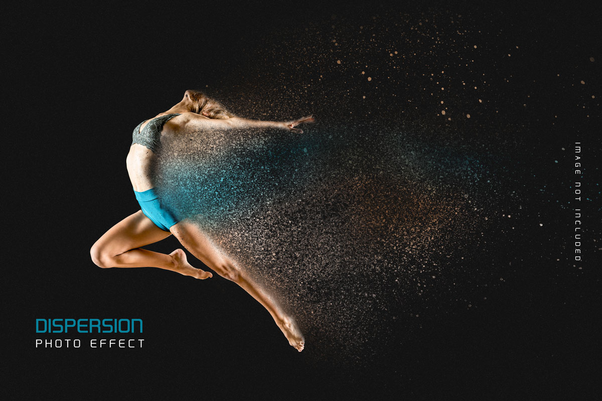 灰尘粒子分散照片处理特效PS样式模板 Dust Dispersion Photo Effect Template插图3