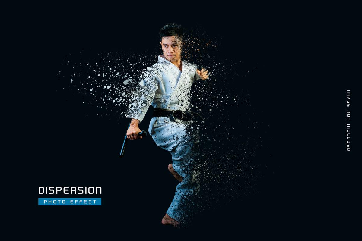 灰尘粒子分散照片处理特效PS样式模板 Dust Dispersion Photo Effect Template插图