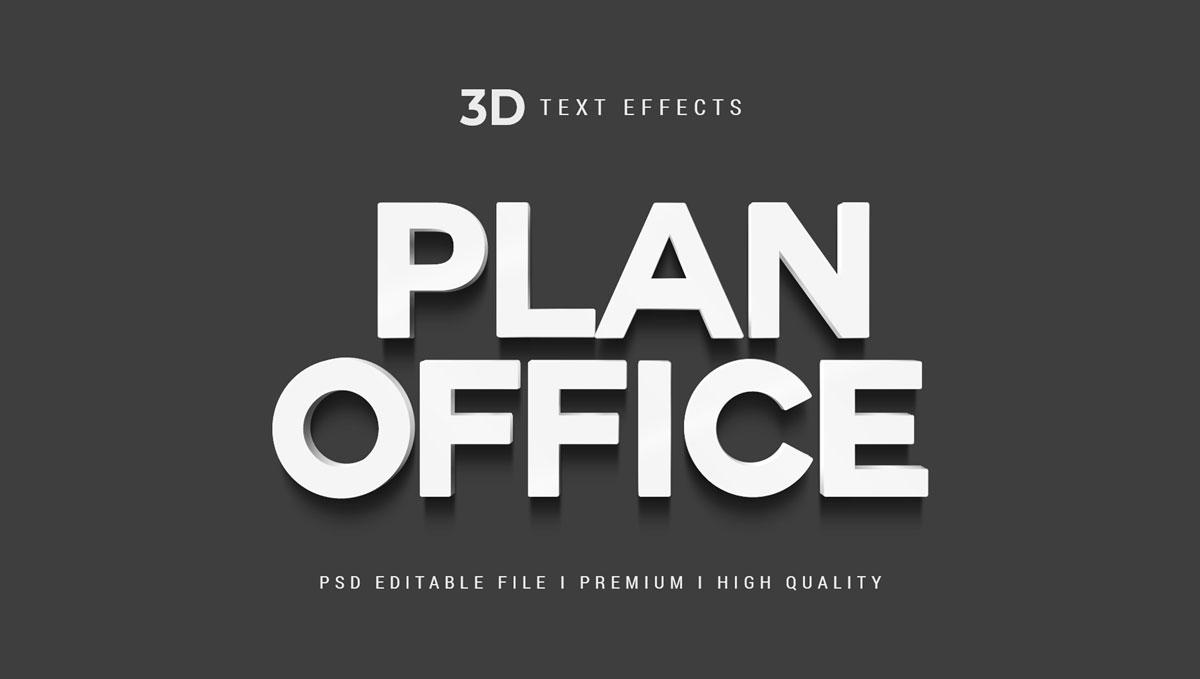 14款3D立体标题徽标设计PS样式模板素材 Text Effect Template插图10
