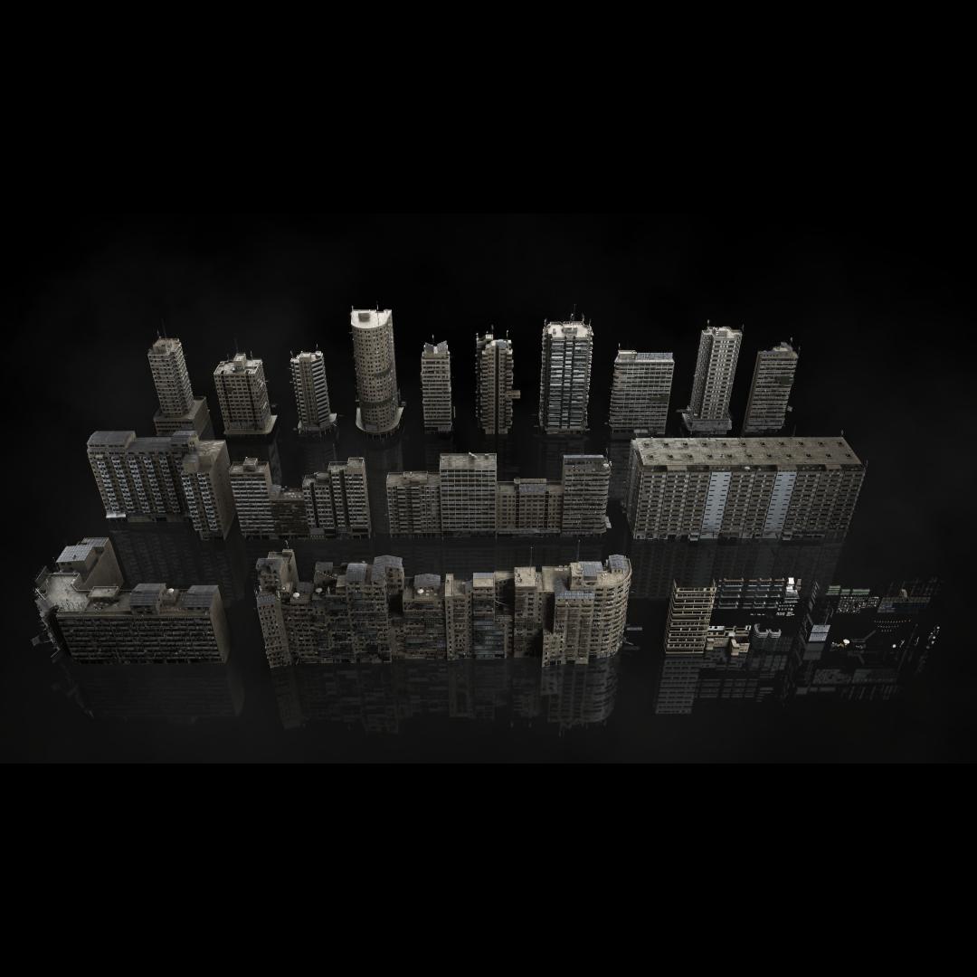 科幻电影都市贫民窟建筑设计3D模型素材 Kitbash3D – Future Slums插图2