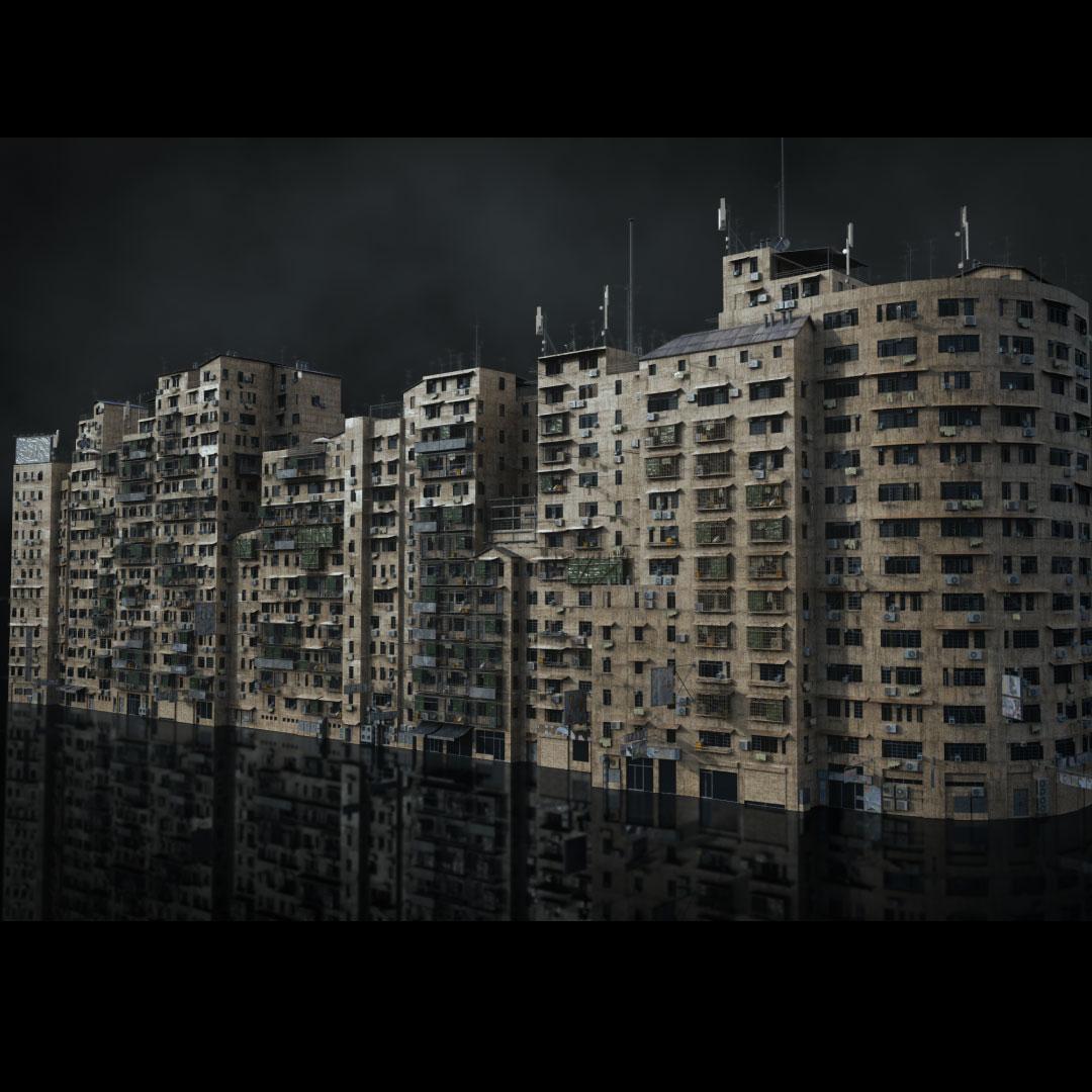 科幻电影都市贫民窟建筑设计3D模型素材 Kitbash3D – Future Slums插图3