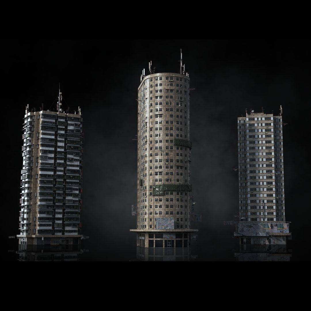 科幻电影都市贫民窟建筑设计3D模型素材 Kitbash3D – Future Slums插图4