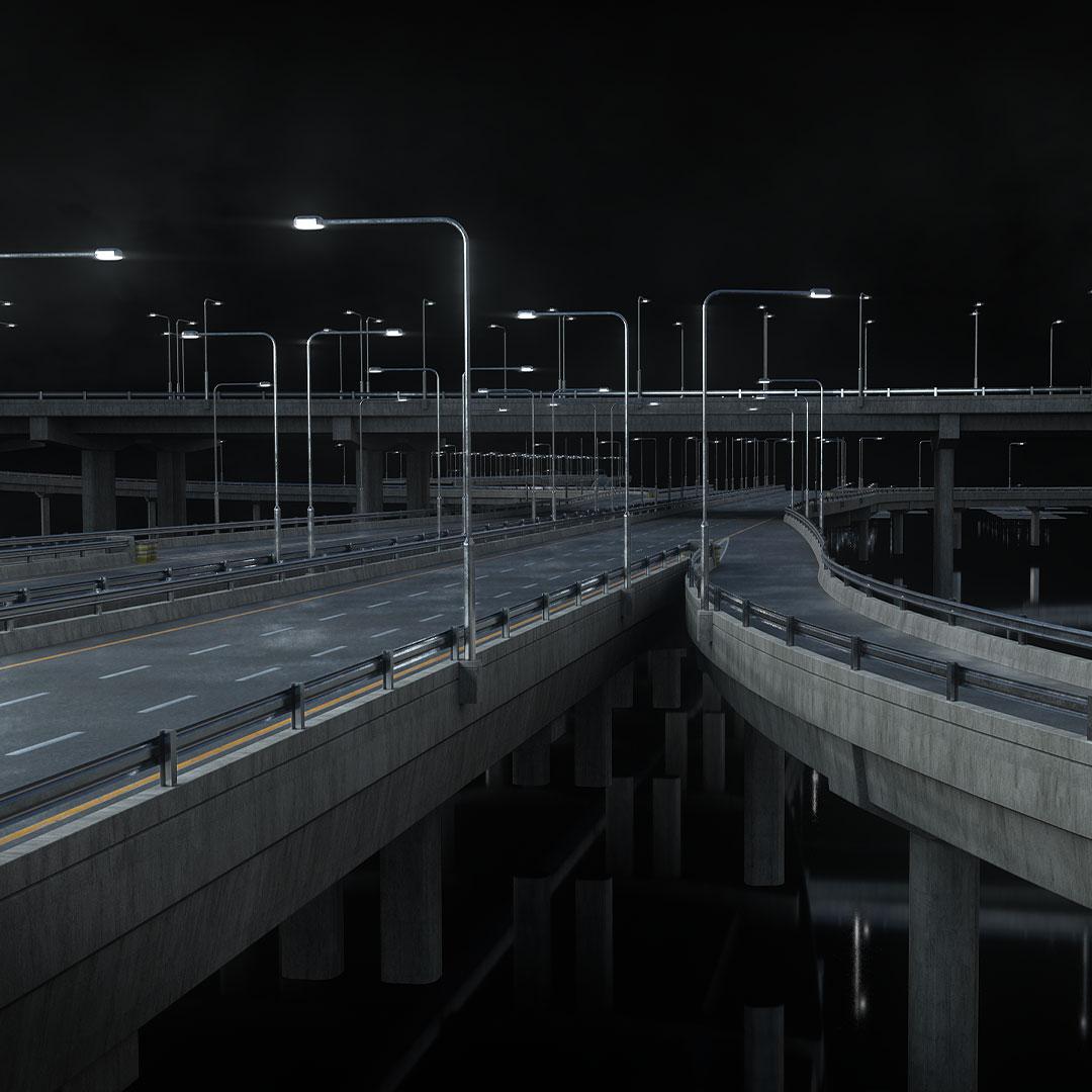 高速公路道路网路标指示牌设计3d模型素材 Kitbash3D – Props Highways插图2