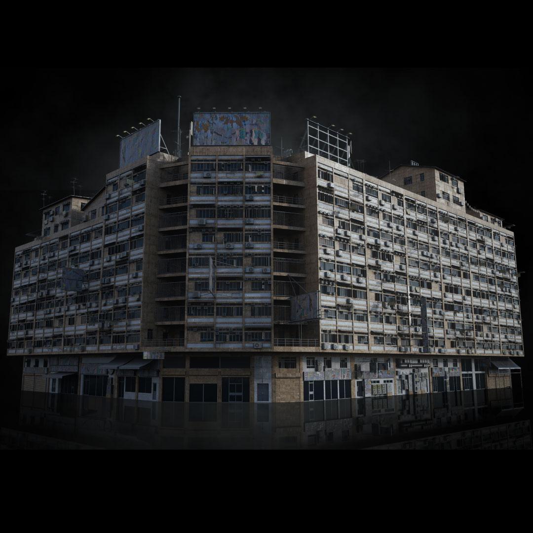 科幻电影都市贫民窟建筑设计3D模型素材 Kitbash3D – Future Slums插图6