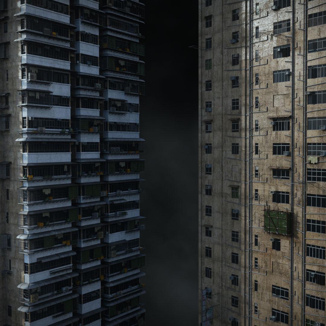 科幻电影都市贫民窟建筑设计3D模型素材 Kitbash3D – Future Slums插图7