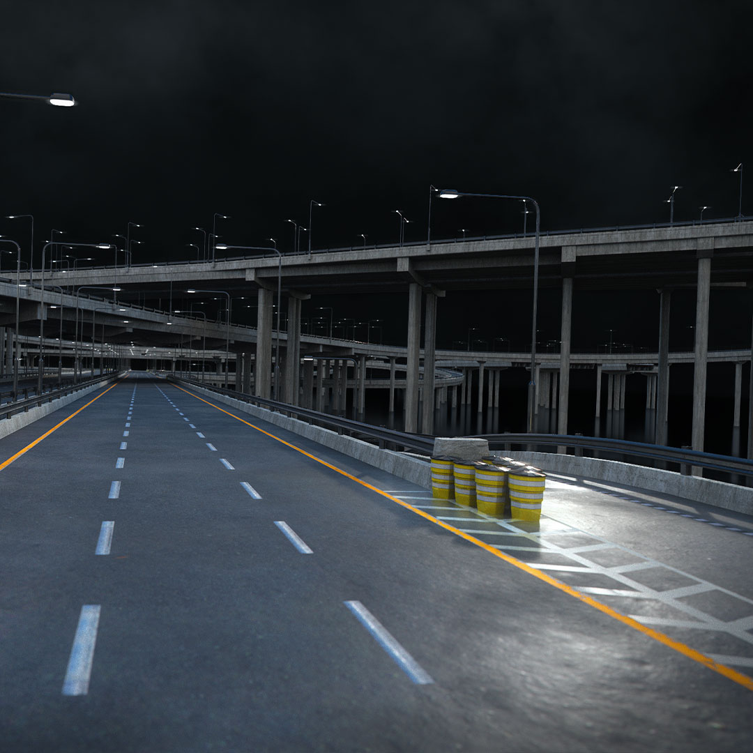 高速公路道路网路标指示牌设计3d模型素材 Kitbash3D – Props Highways插图6