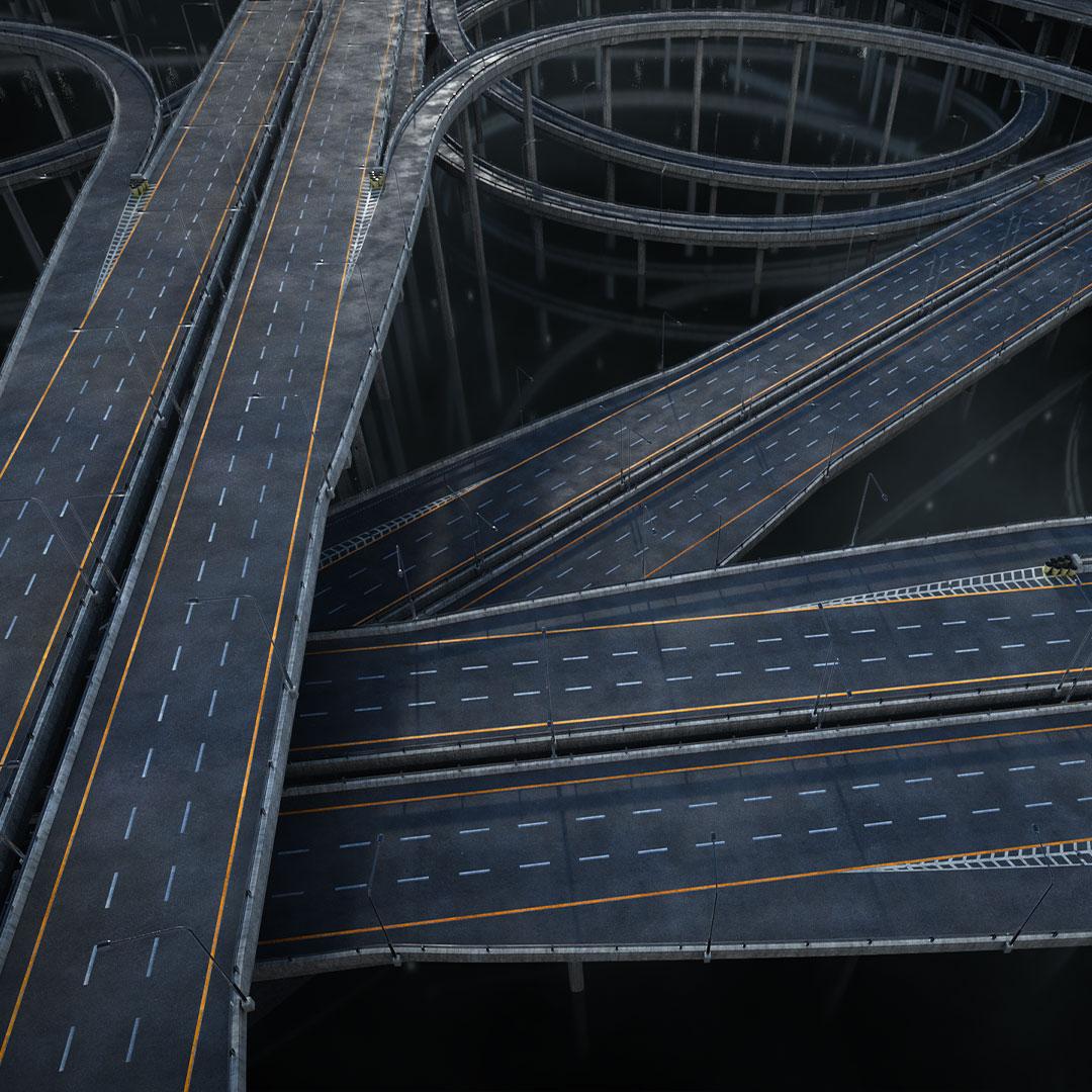 高速公路道路网路标指示牌设计3d模型素材 Kitbash3D – Props Highways插图7