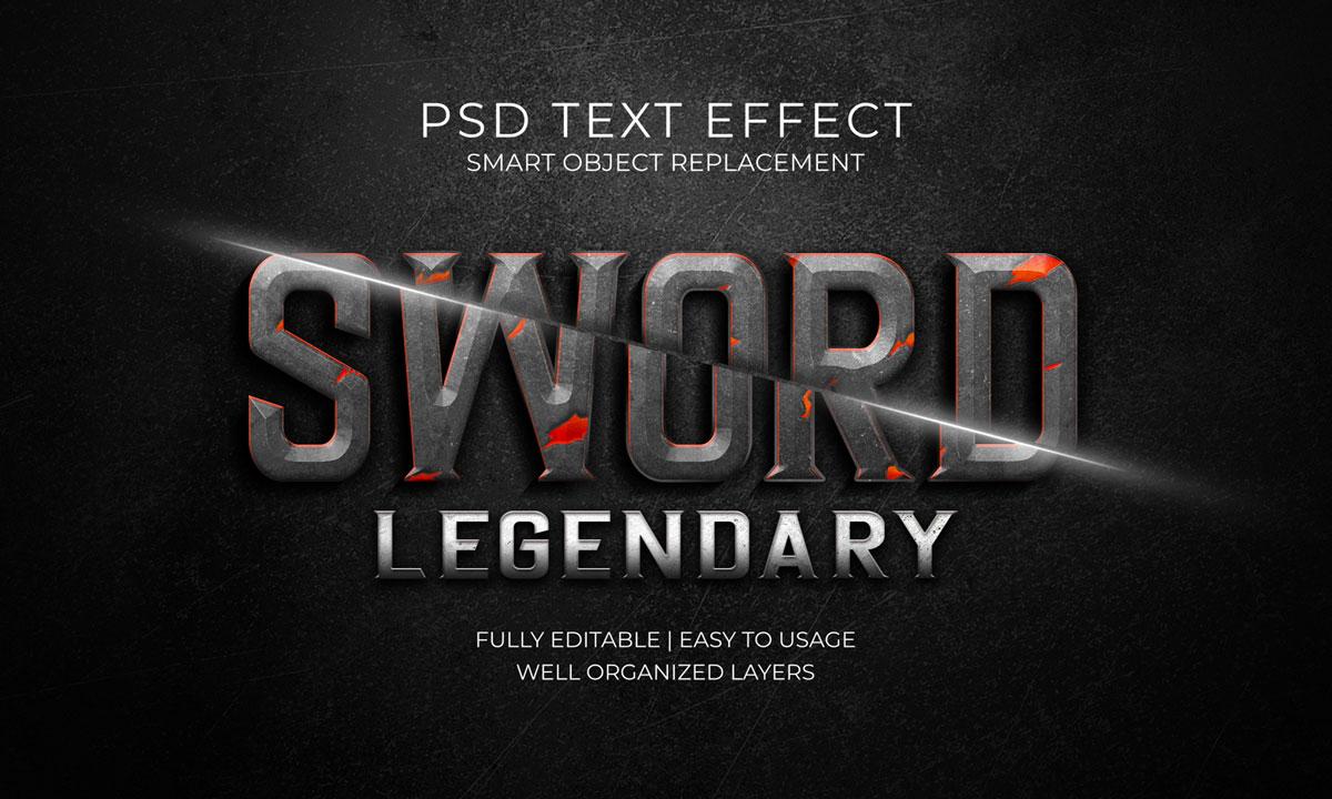 14款3D立体标题徽标设计PS样式模板素材 Text Effect Template插图13