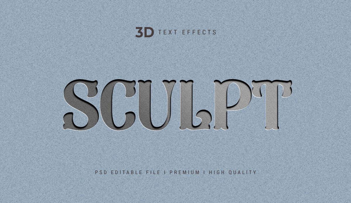 14款3D立体标题徽标设计PS样式模板素材 Text Effect Template插图11