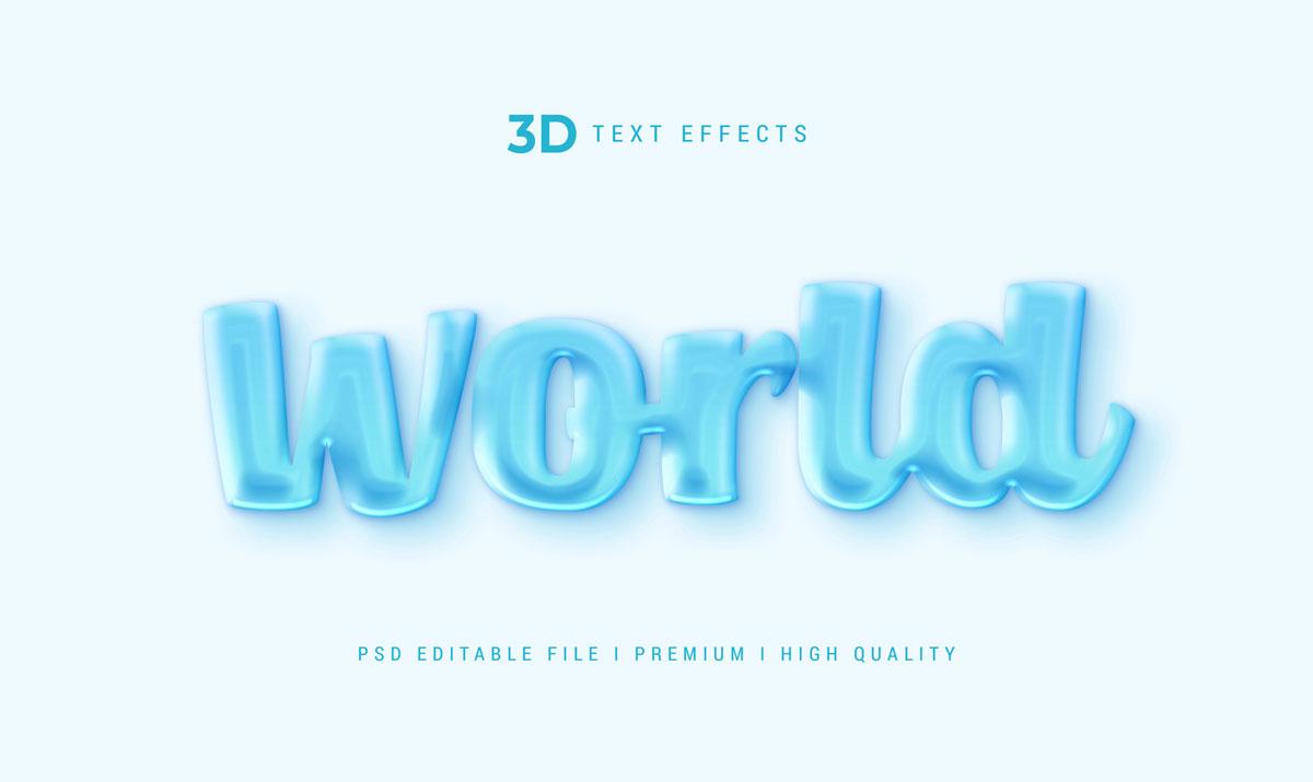 14款3D立体标题徽标设计PS样式模板素材 Text Effect Template插图14