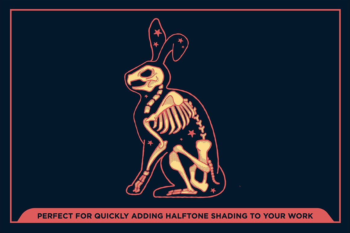 27款半色调颗粒绘画画笔Procreate笔刷素材 Black Magic Halftones插图6