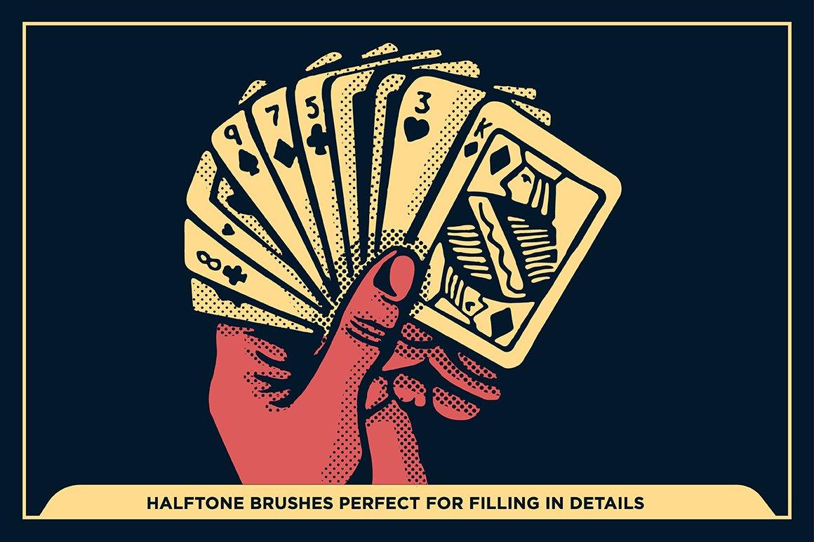 27款半色调颗粒绘画画笔Procreate笔刷素材 Black Magic Halftones插图7
