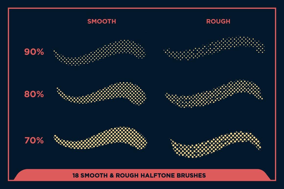 27款半色调颗粒绘画画笔Procreate笔刷素材 Black Magic Halftones插图11
