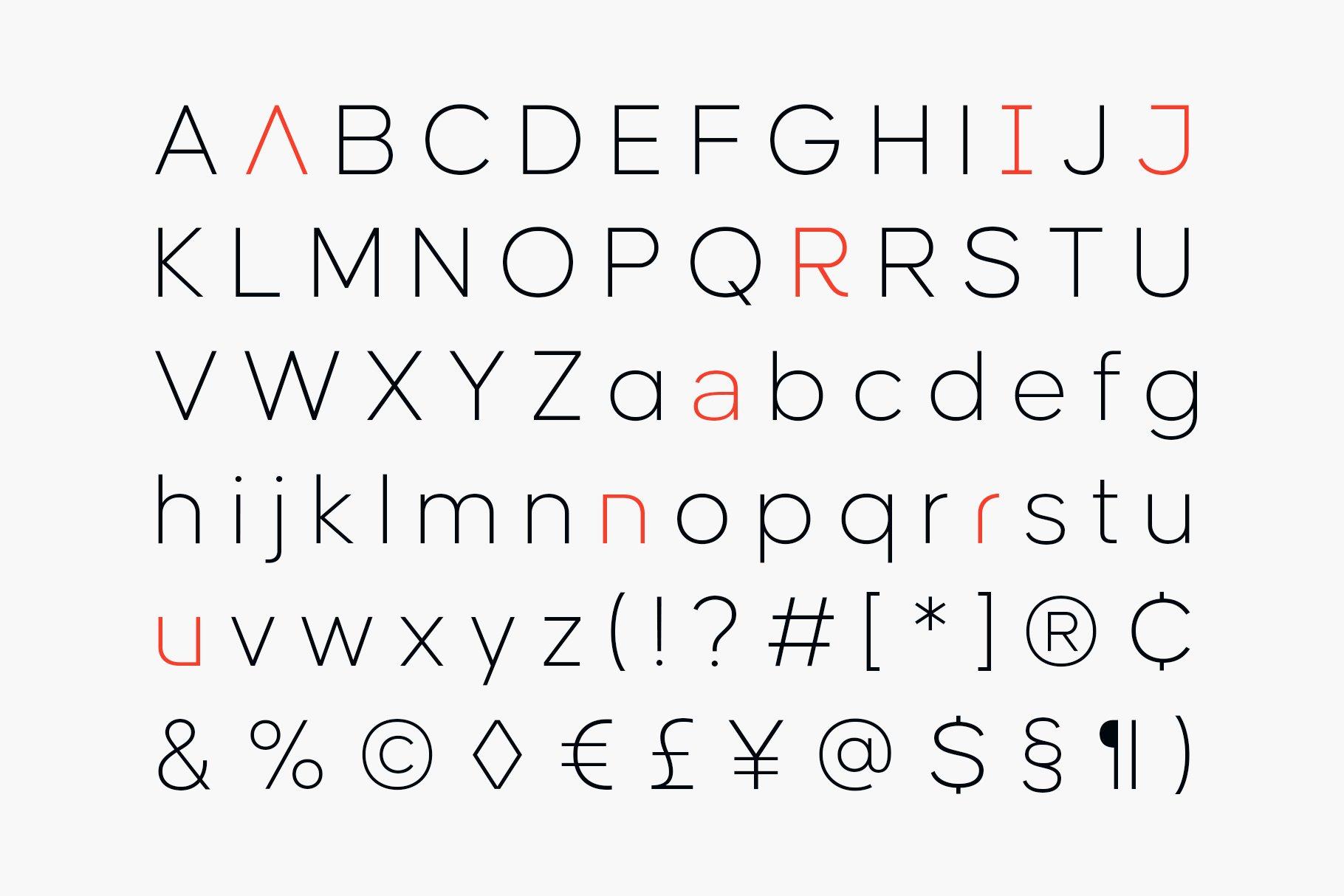 现代简约海报杂志广告Logo标题无衬线英文字体素材 Causten Font Family插图14