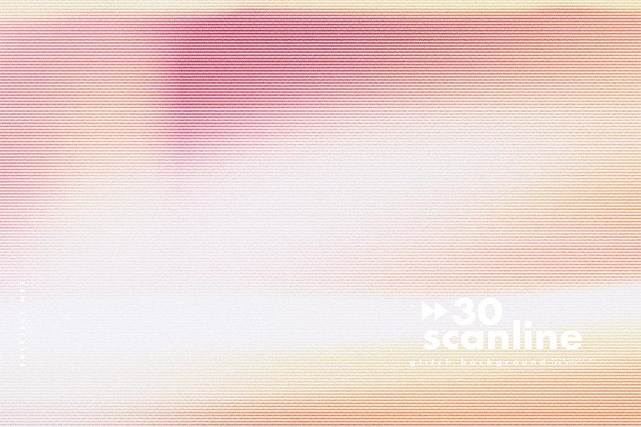 [单独购买] 30款高清故障扫描线纹理海报设计背景图片素材 30 Scan lines Glitch Background插图1