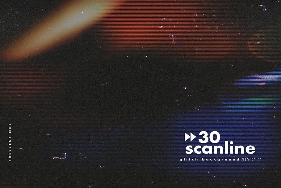 [单独购买] 30款高清故障扫描线纹理海报设计背景图片素材 30 Scan lines Glitch Background插图8