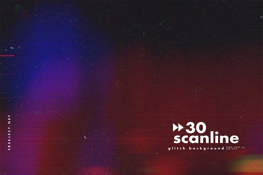 [单独购买] 30款高清故障扫描线纹理海报设计背景图片素材 30 Scan lines Glitch Background插图11