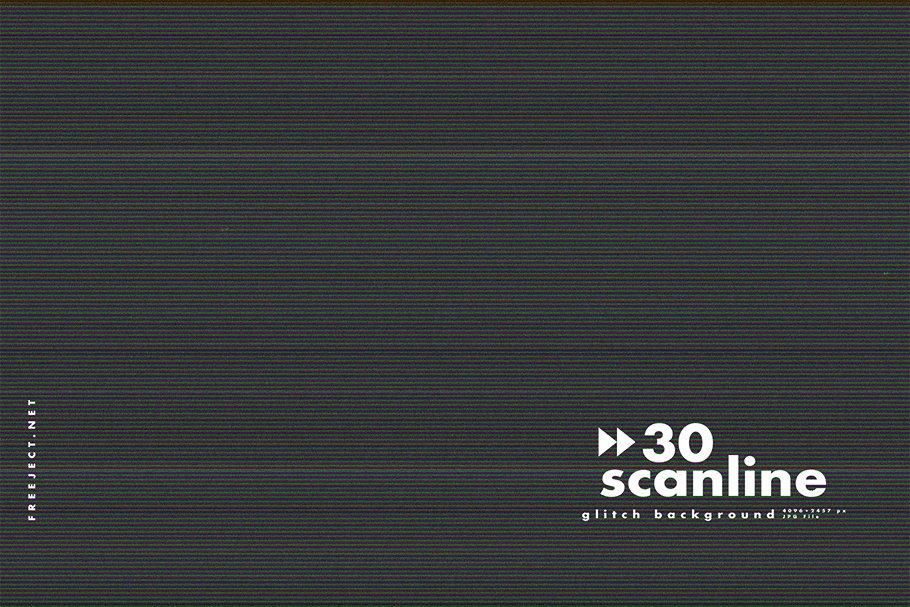 [单独购买] 30款高清故障扫描线纹理海报设计背景图片素材 30 Scan lines Glitch Background插图20