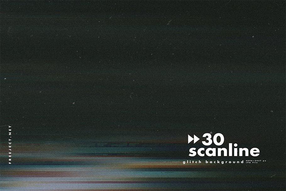 [单独购买] 30款高清故障扫描线纹理海报设计背景图片素材 30 Scan lines Glitch Background插图22