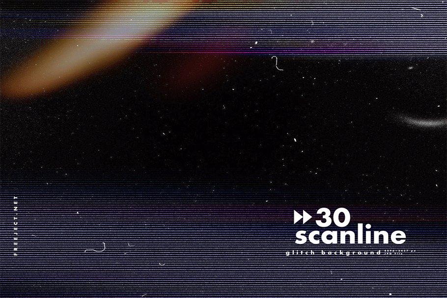 [单独购买] 30款高清故障扫描线纹理海报设计背景图片素材 30 Scan lines Glitch Background插图24