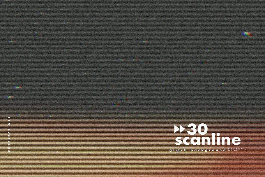 [单独购买] 30款高清故障扫描线纹理海报设计背景图片素材 30 Scan lines Glitch Background插图29