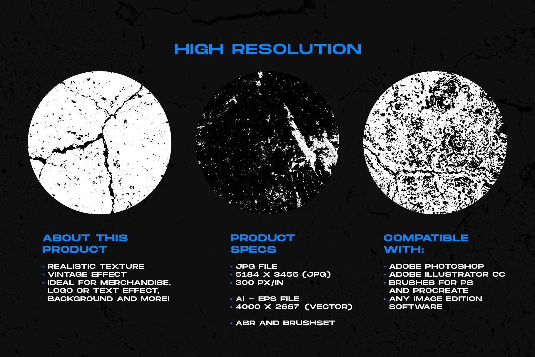 [单独购买] 150款潮流做旧粗糙磨损裂纹纹理平面广告设计背景图片素材 Cracked & Distressed Textures插图1