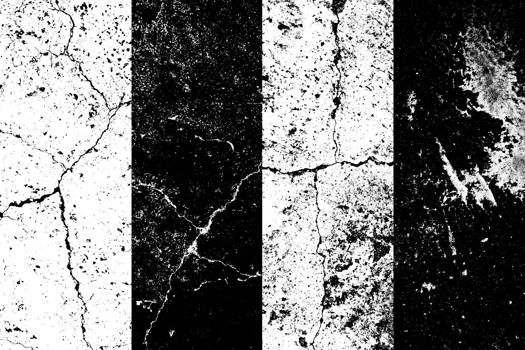 [单独购买] 150款潮流做旧粗糙磨损裂纹纹理平面广告设计背景图片素材 Cracked & Distressed Textures插图7