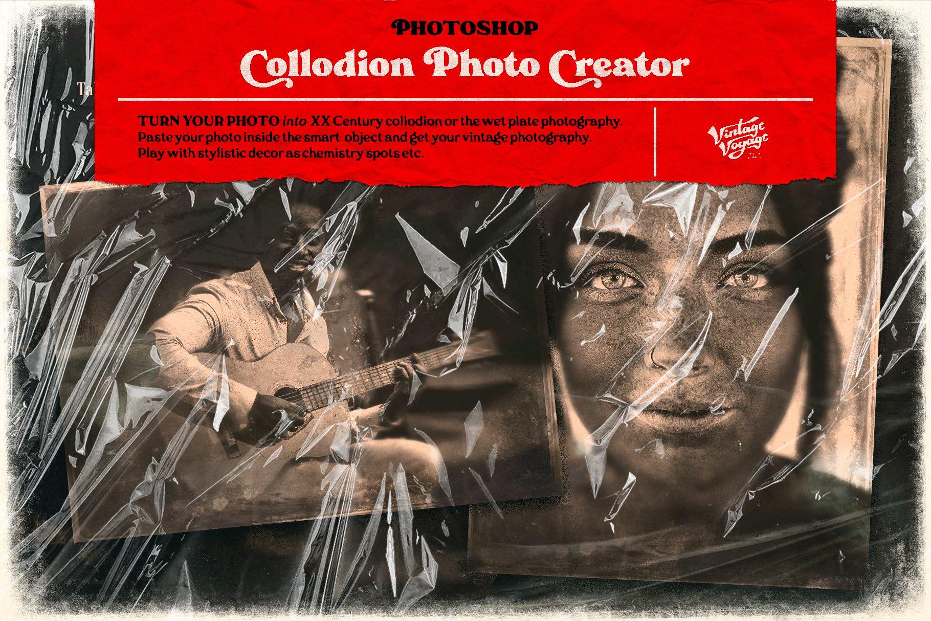 7款潮流素描水彩半调胶片艺术海报效果照片处理特效PS素材套装 Photoshop Creator's Bundle • 7 in 1插图10