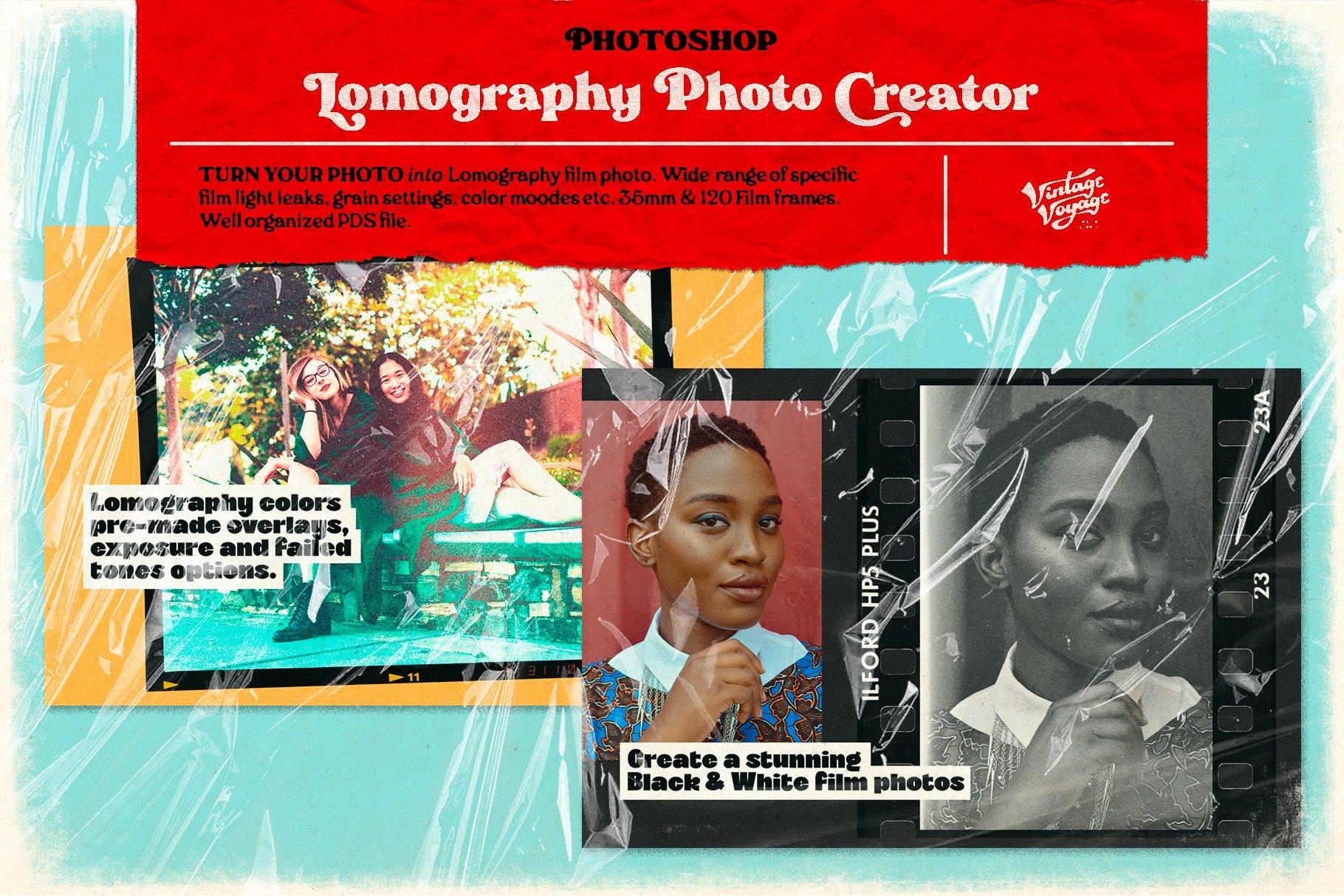 7款潮流素描水彩半调胶片艺术海报效果照片处理特效PS素材套装 Photoshop Creator's Bundle • 7 in 1插图12