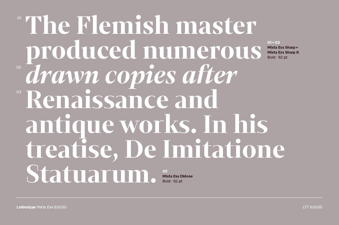 经典复古海报画册杂志Logo标题衬线英文字体素材 Mixta Ess – Intro Offer插图1