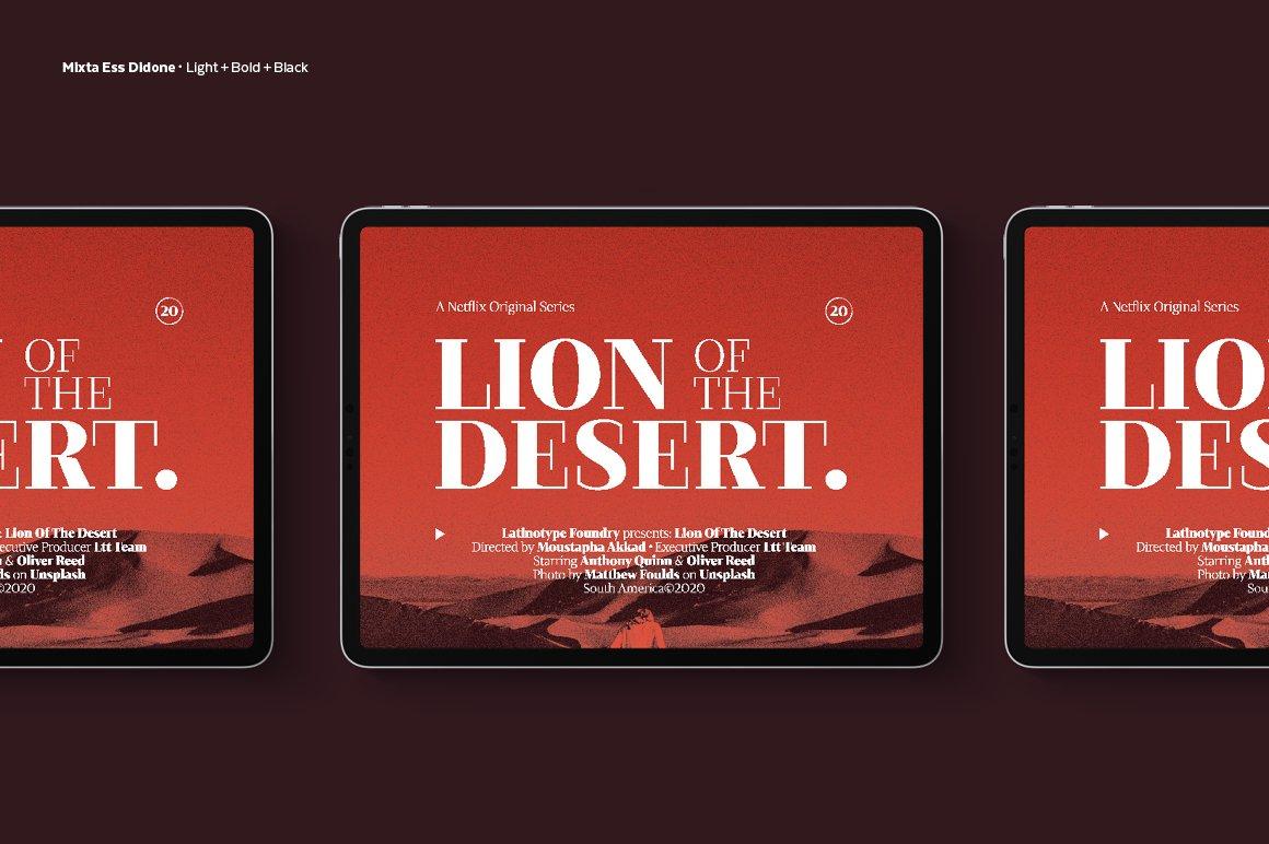 经典复古海报画册杂志Logo标题衬线英文字体素材 Mixta Ess – Intro Offer插图10
