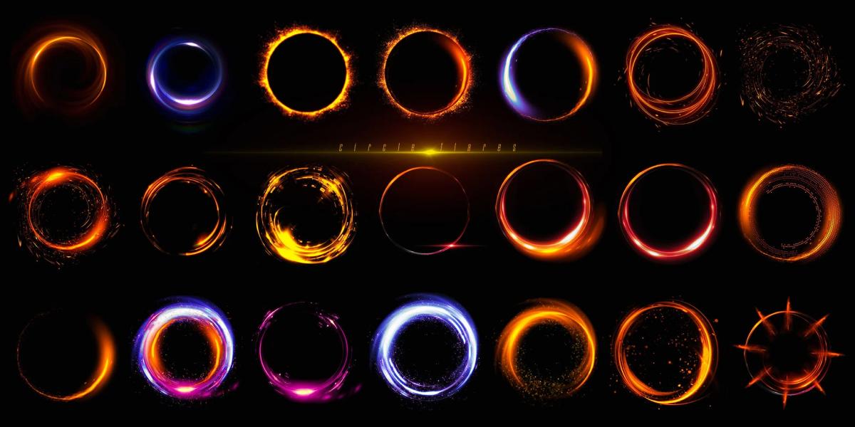 炫酷耀眼未来科幻罗恩光圈照片叠加层PNG透明图片设计素材 Rons Circle Flares插图6