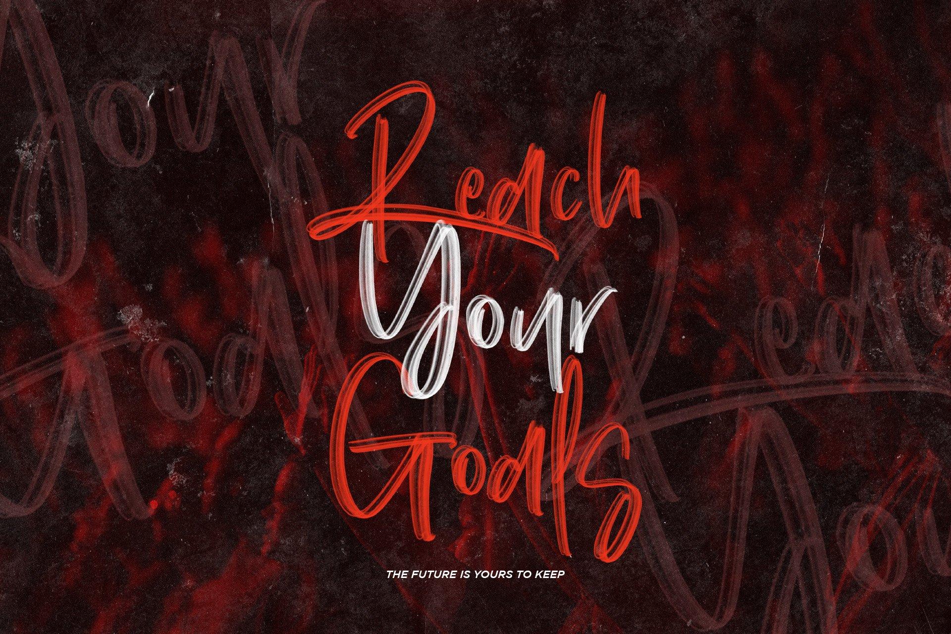 手写涂鸦书法笔刷杂志海报Logo标题英文字体设计素材 Dinomo SVG Brush Font插图4