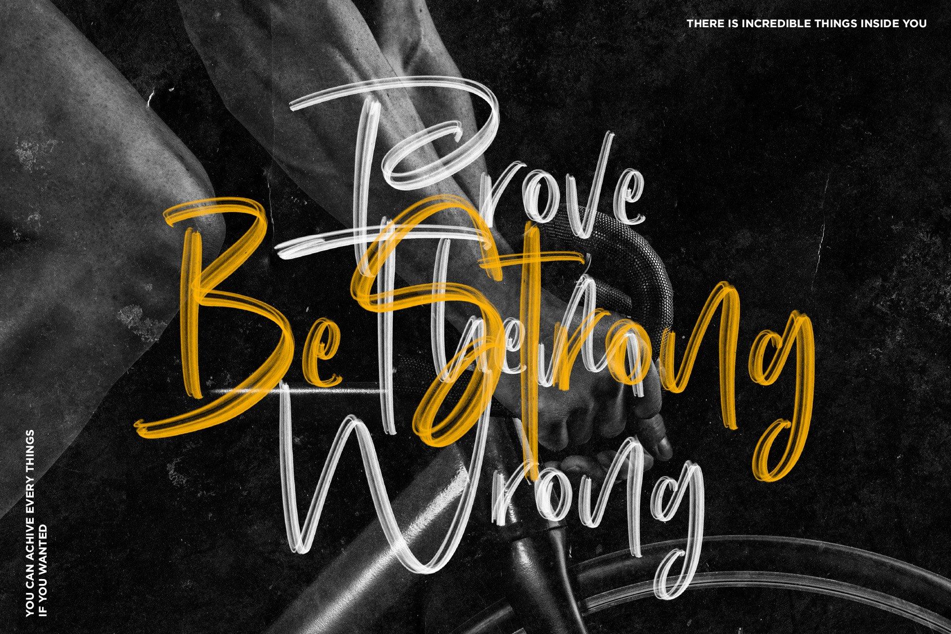 手写涂鸦书法笔刷杂志海报Logo标题英文字体设计素材 Dinomo SVG Brush Font插图5