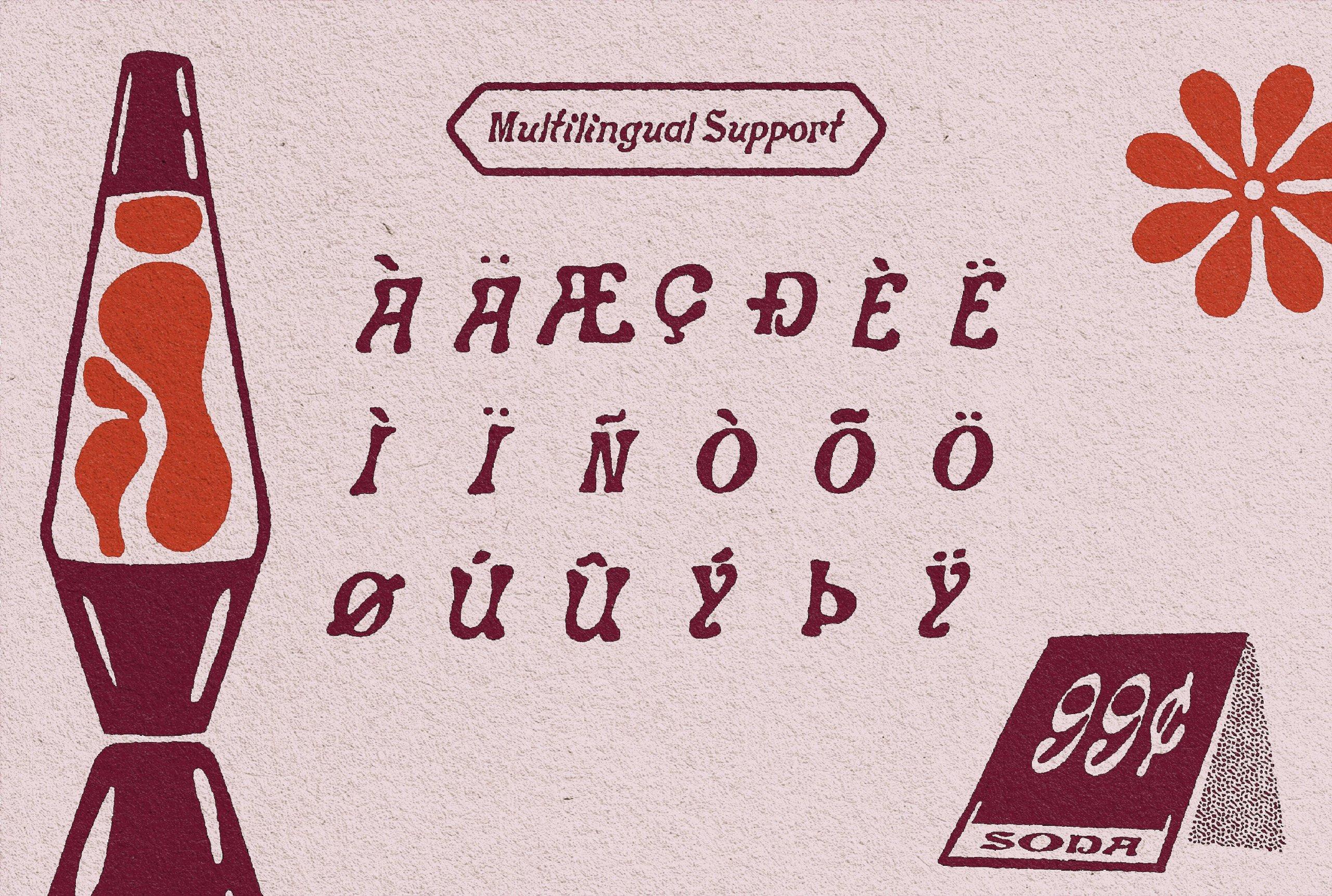 时尚复古卡通标题徽标Logo斜体装饰英文字体素材 DAISY CHAIN – A Funky Display Face插图7