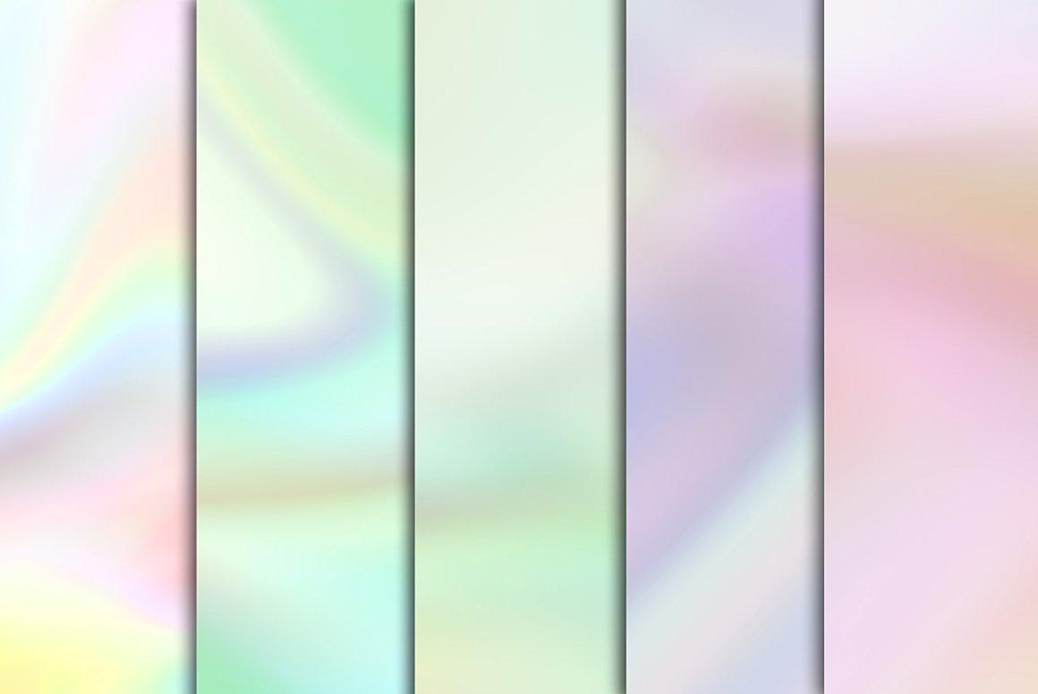 60款全息渐变虹彩海报背景图片设计素材 Holographic Backgrounds插图1