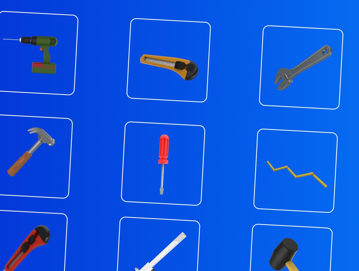 48个卡通3D修炼工具图标设计素材 3D Tools插图8
