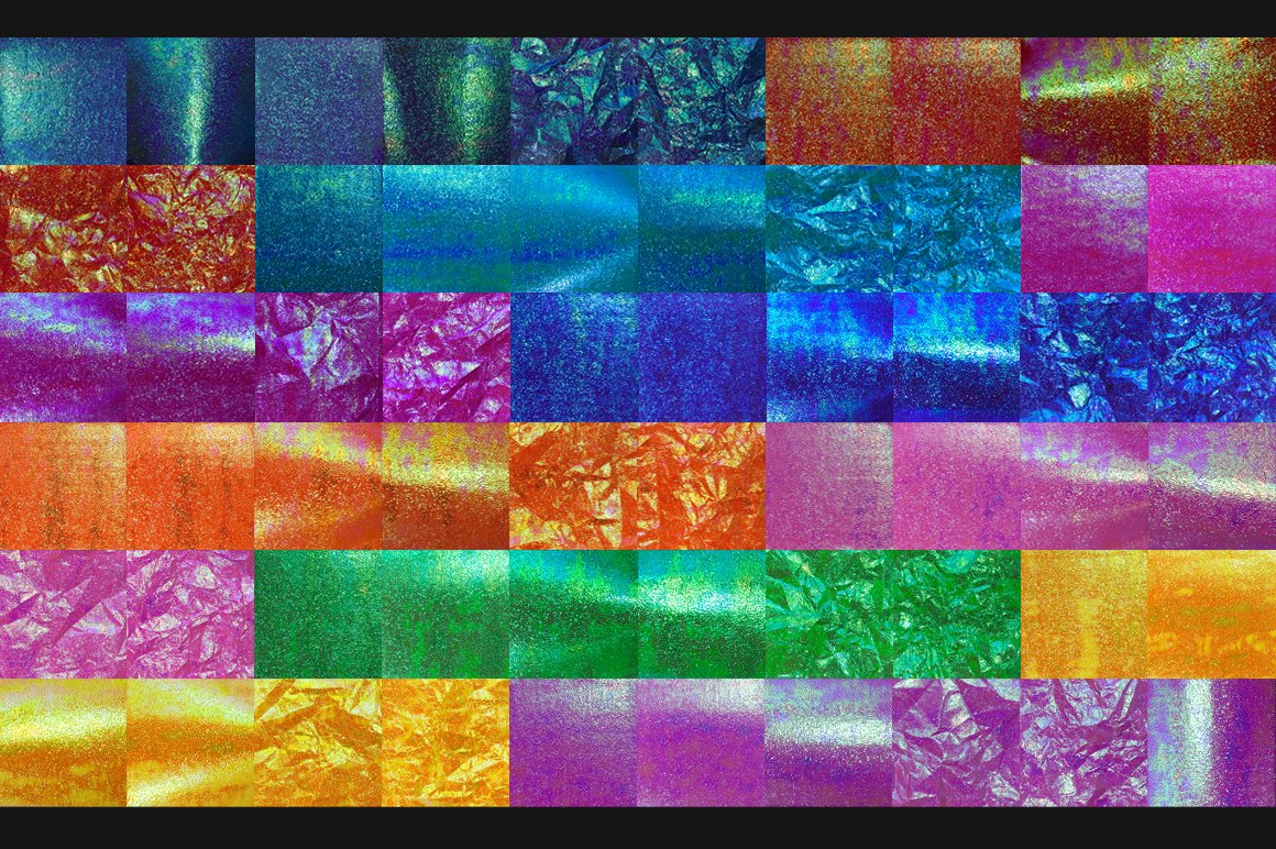 闪闪发光全息虹彩箔纸背景PS设计素材 Oh So Iridescent Shimmer Foils插图2