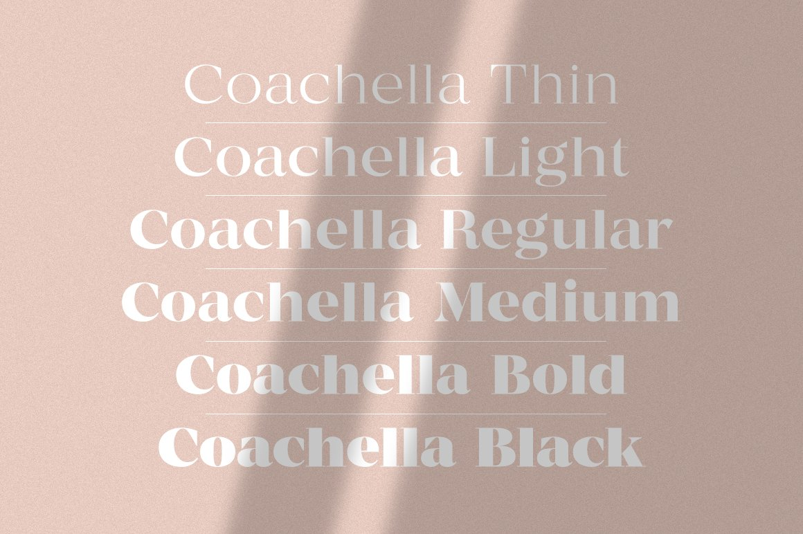 现代优雅杂志标题徽标Logo设计衬线英文字体素材 MADE Coachella Font插图2