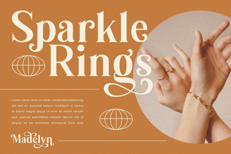 优雅复古海报画册杂志Logo标题衬线英文装饰字体素材 Madelyn Vintage Serif Font插图3