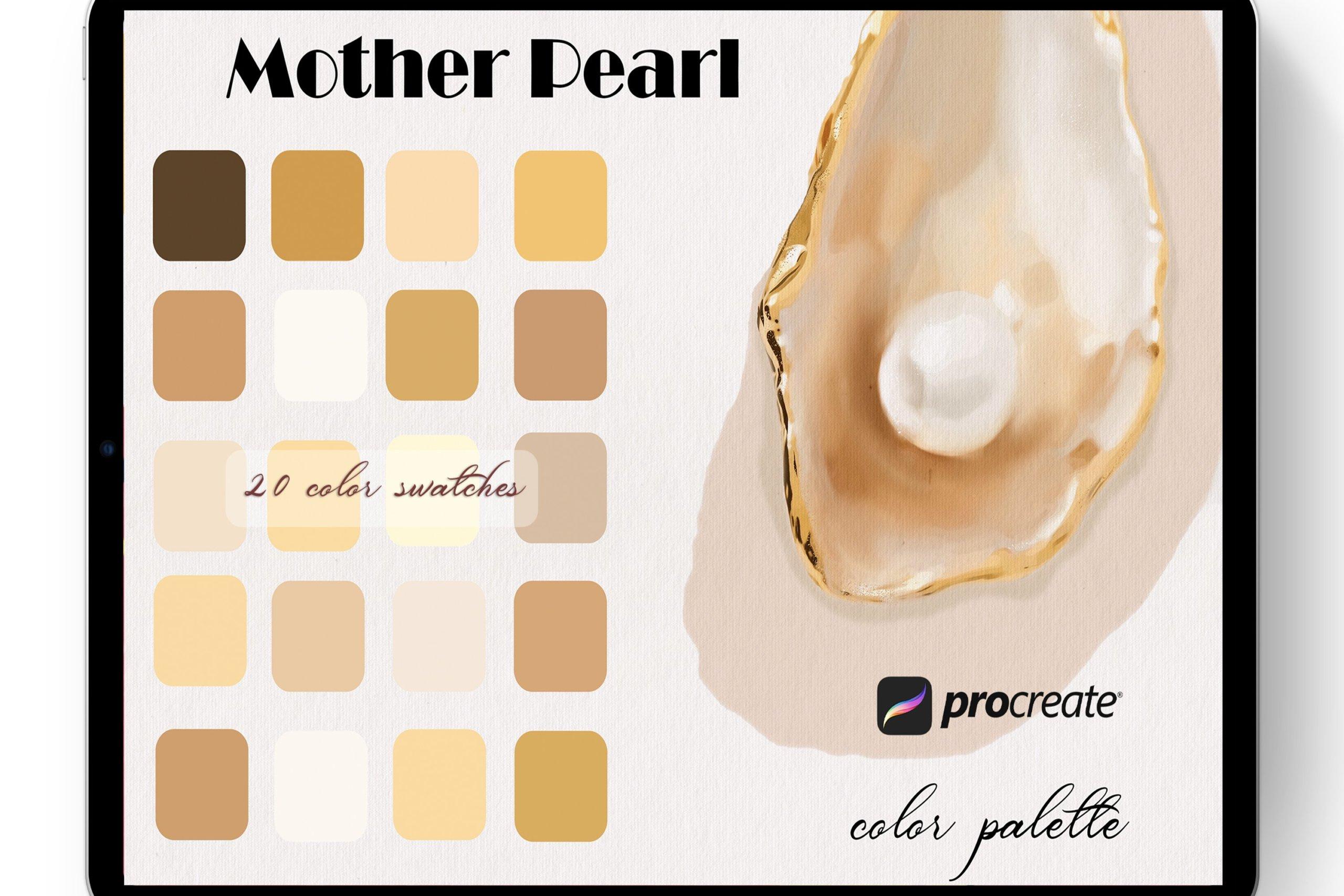 20款优雅Procreate调色板设计素材 Mother Pearl Color Palette Procreate插图