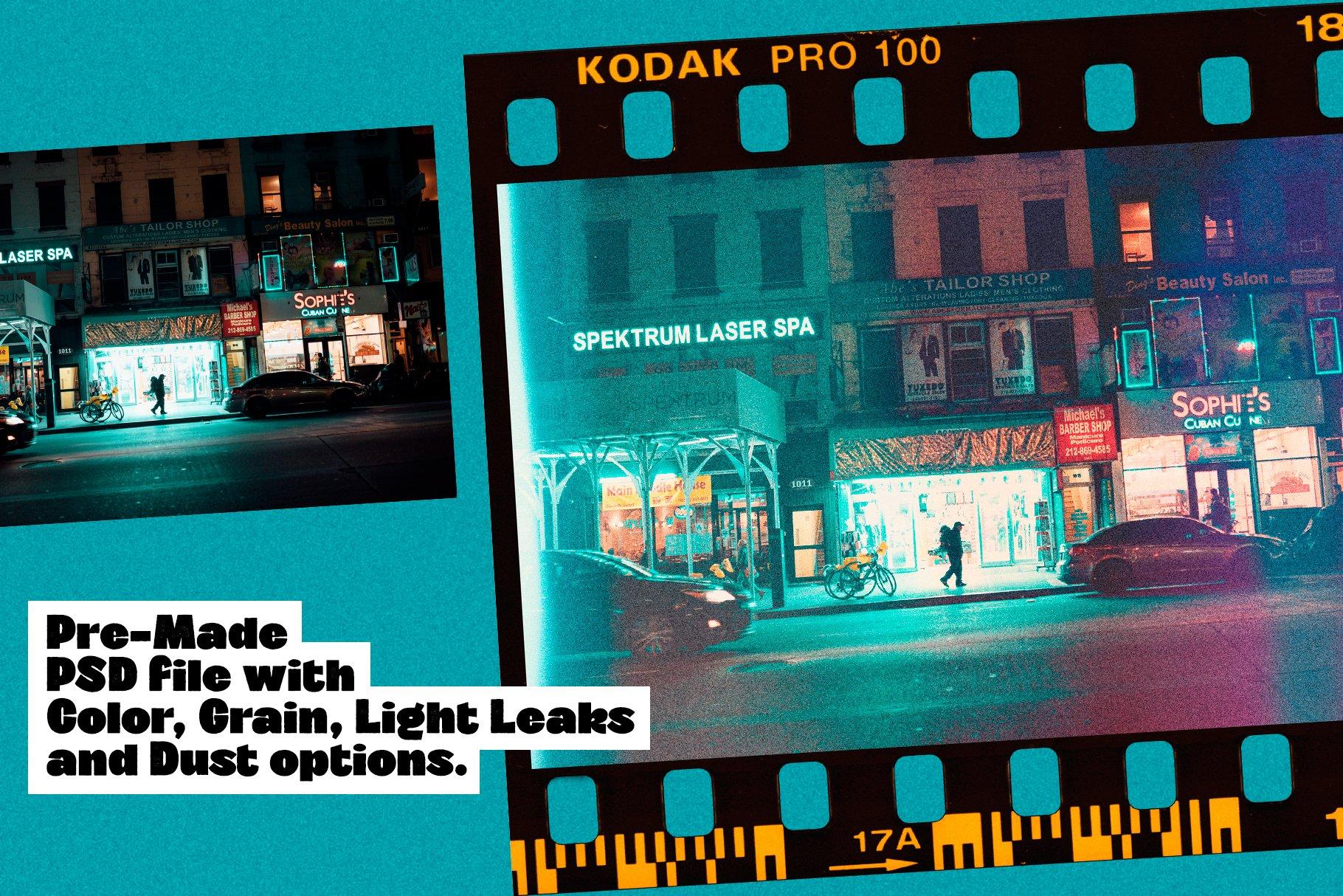 68款Lomo风格自然漏光曝光灰尘胶片边框照片叠加效果PS设计素材 Master of Lomography • Creator插图2