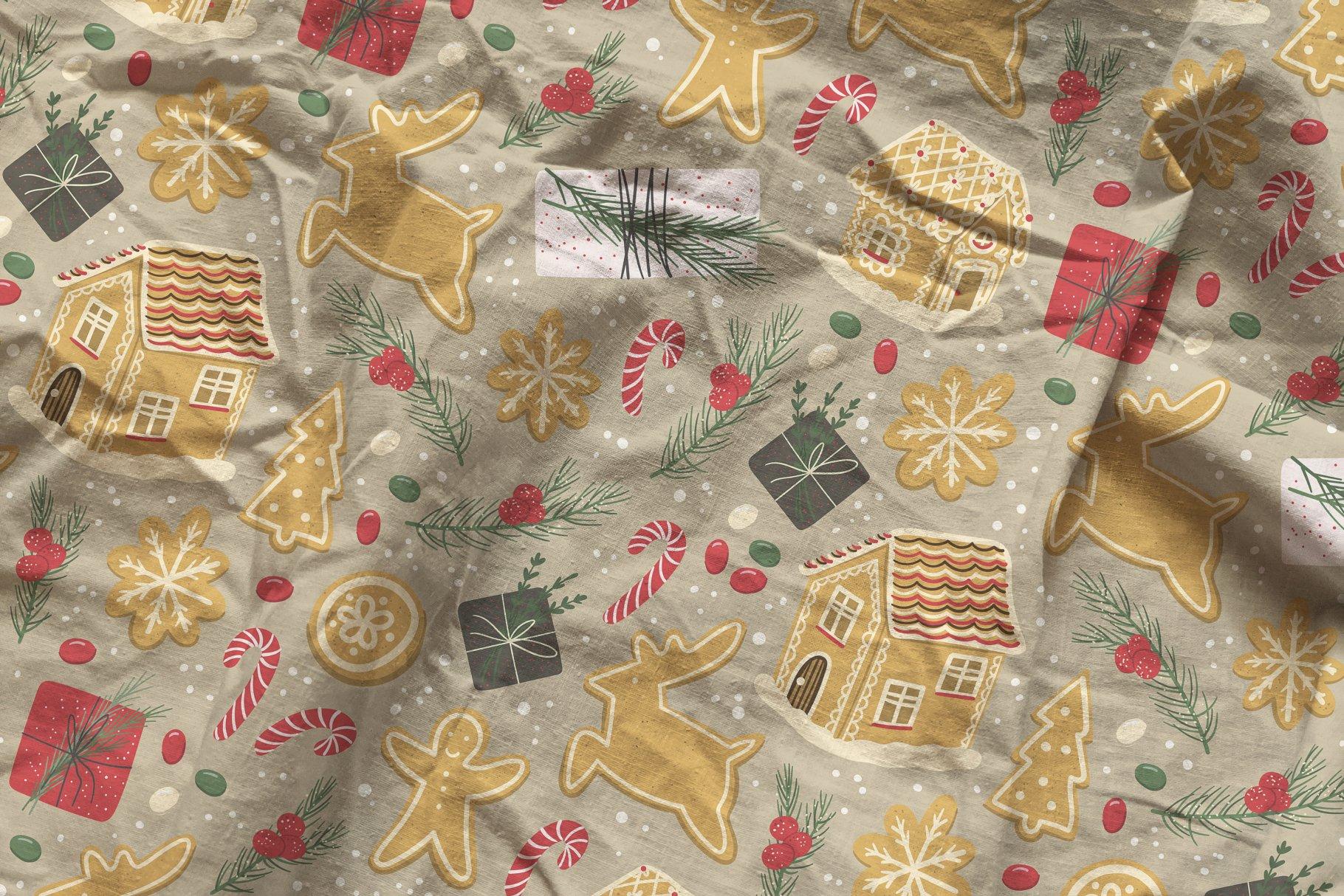 褶皱纺织面料布料印花图案设计PS贴图样机模板 Cotton Fabric Mockup插图6