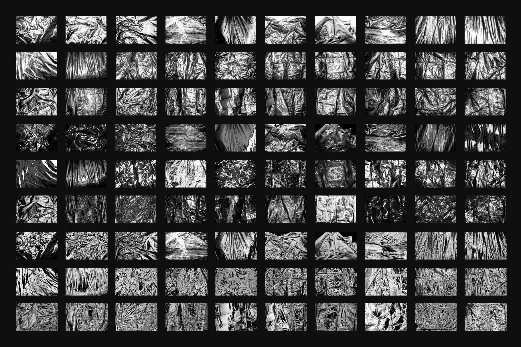 [单独购买] 120款潮流高清折痕褶皱塑料袋纹理海报设计背景图片素材 Visualfear – Plastic Wrap Textures插图3