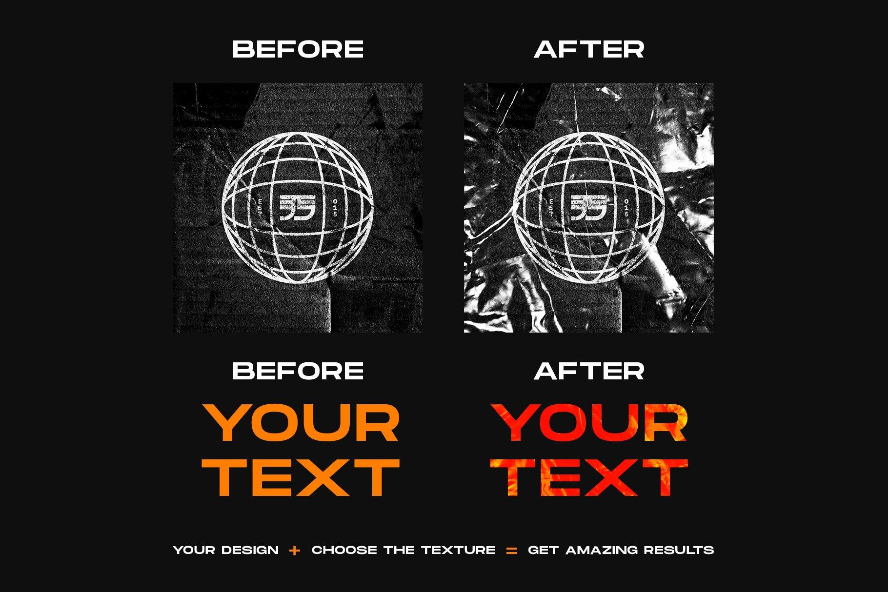 [单独购买] 120款潮流高清折痕褶皱塑料袋纹理海报设计背景图片素材 Visualfear – Plastic Wrap Textures插图5